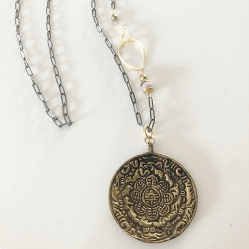 Tibetan Healing Coin Pendant