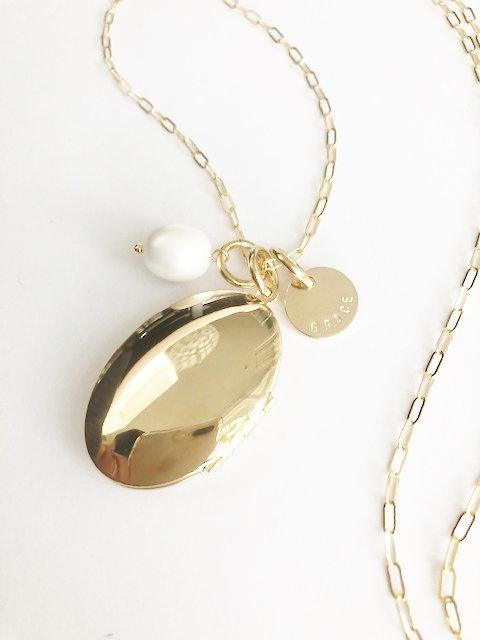 Oval GRACE Locket & Charmed Necklace