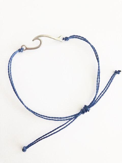 Marin Wave Bracelet - SILVER - navy