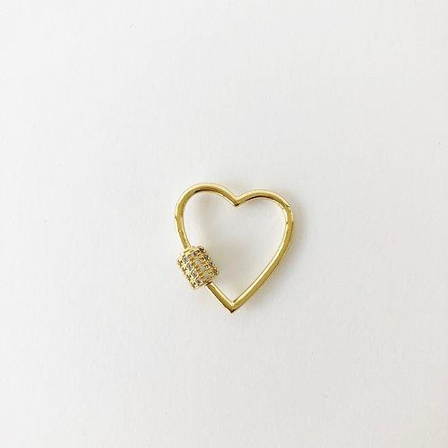 Gold Heart Carabiner - Small