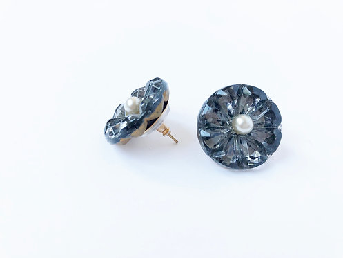 Vintage Glass Button Studs
