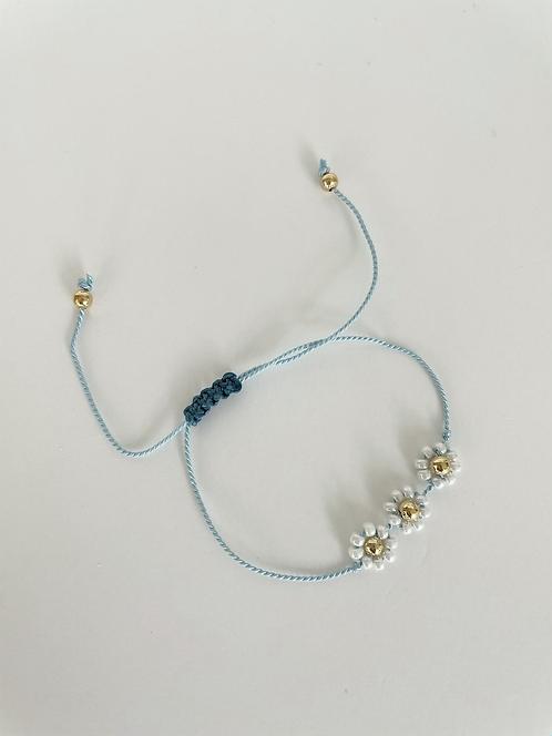 Forget Me Knot Friendship Bracelet - Triple Blue