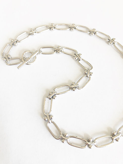 Linked by Love Simple Toggle Chain - SILVER