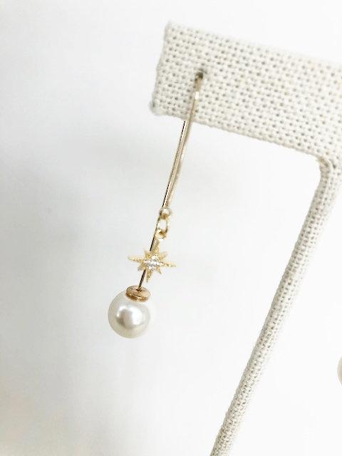 Star Studded Pearl Drop - GOLD