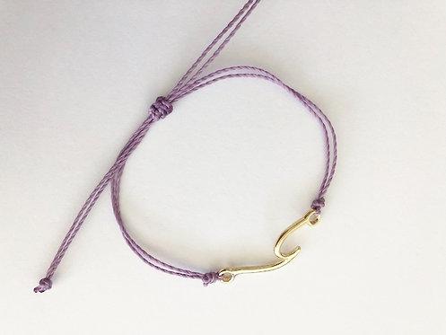Marin Wave Bracelet - GOLD - lilac