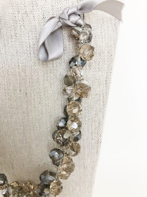 Fancy Pants Upcycled Crystal Necklace