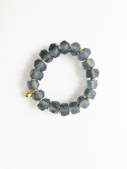 TWILIGHT Recycled Seaglass Stack On Elastic Bracelet