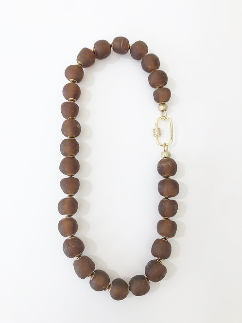 AMBER Recycled  Seaglass Beach Necklace