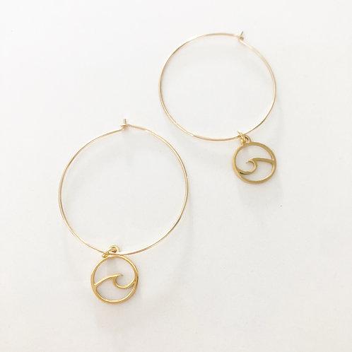 Marin Wave Hoop Earrings