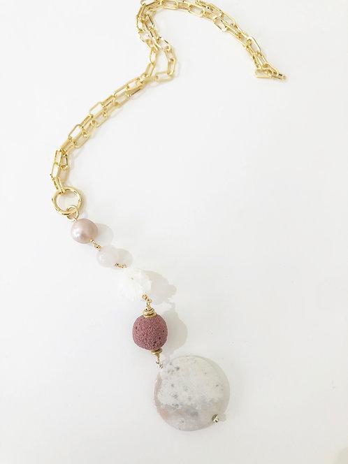 ROSE LAVA Treasure Trove Necklace Layering Charm Chain 2 in 1