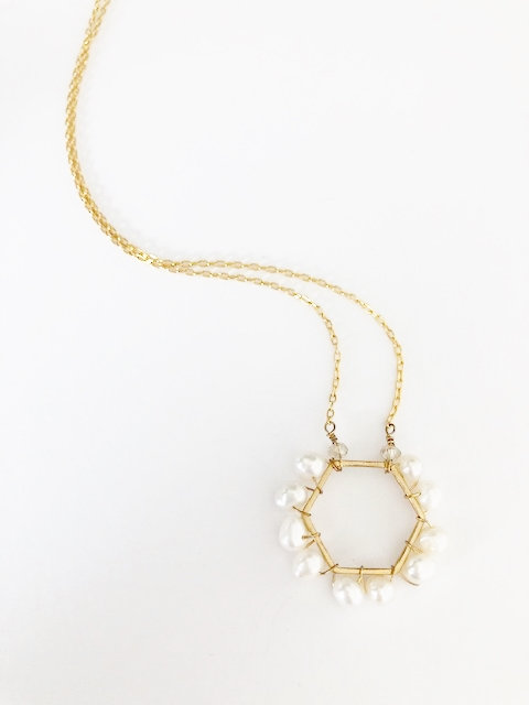 Pearl Hex Pendant