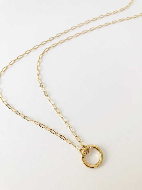 Baby Paperclip Layering Chain - Long