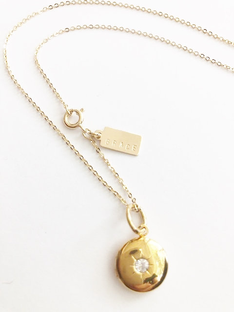 GRACE Sparkle Locket - GOLD
