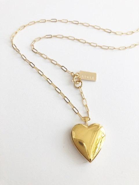 GRACE Heart Locket - GOLD