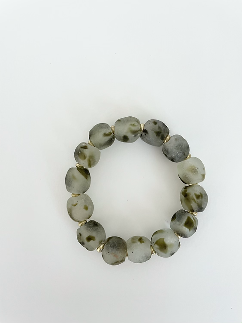 CAMO Recycled Sea Glass Elastic Stack On Bracelet