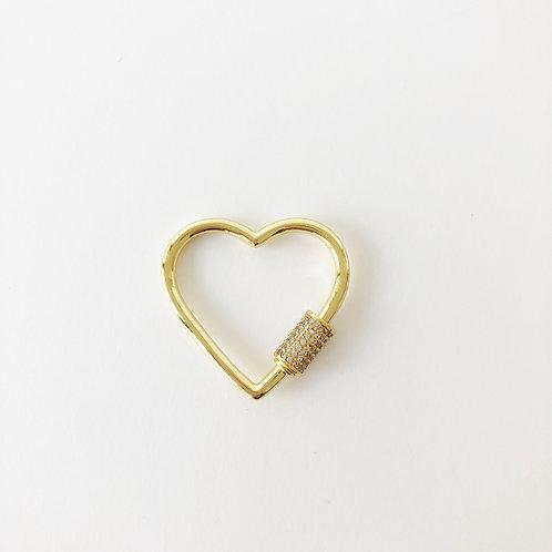 Gold Heart Carabiner - Large