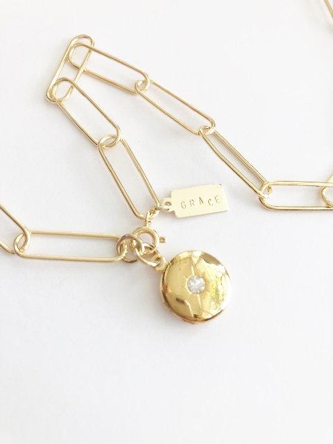 Large Linked Locket - GOLD