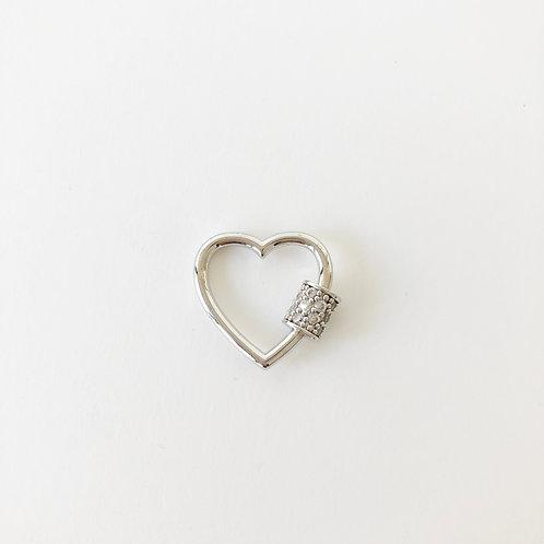 Silver Heart Carabiner - Small