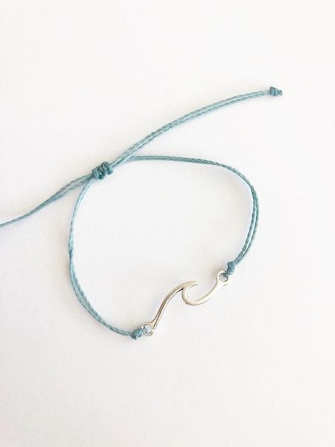 Marin Wave Bracelet - SILVER - seafoam