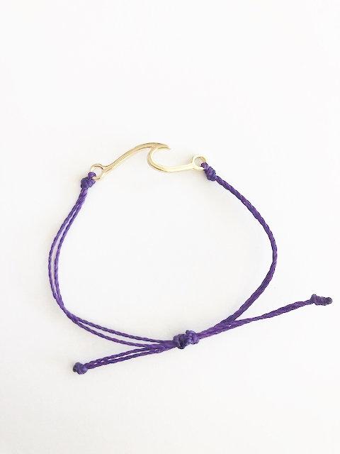 Marin Wave Bracelet - GOLD - awareness purple