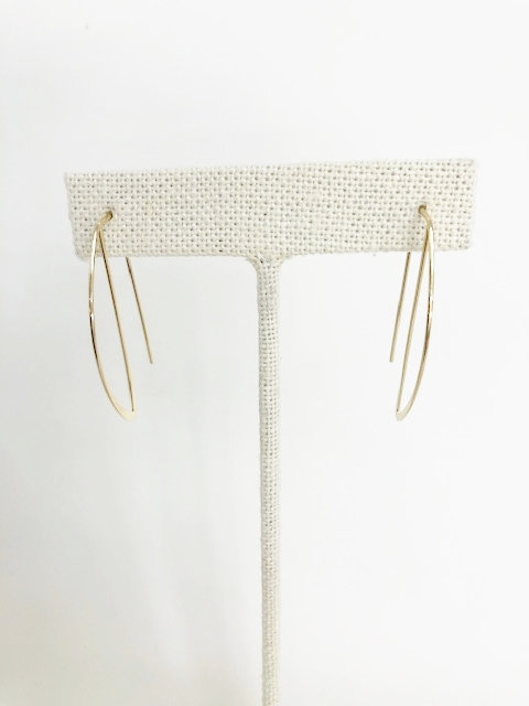 Paper Clip Half Hoop Earring - Gold