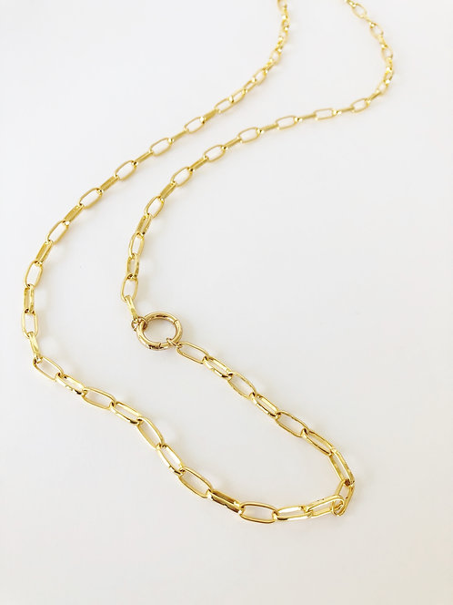 Oval Paperclip Layering Chain