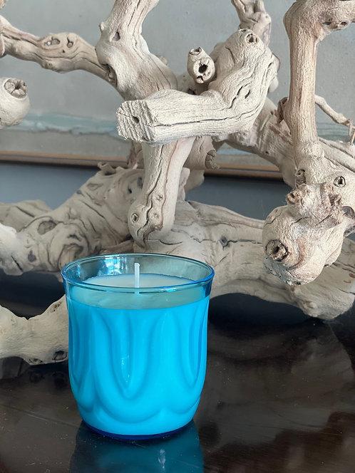 SUNSET blue depression era glassware