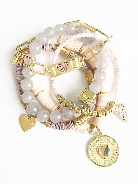Live in Love Bracelet Stack - Gold