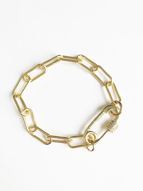 Solidarity Safety Pin Bracelet - Gold