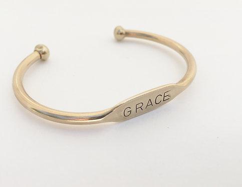 GRACE - Gold ID Cuff
