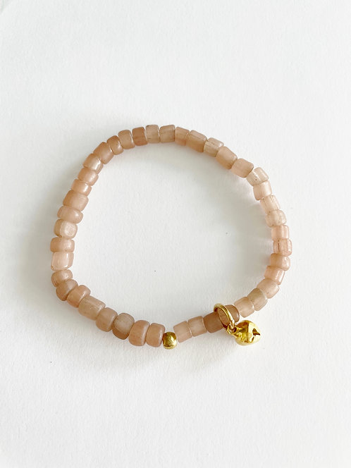 BLUSH Java Bead Stack On Elastic Bracelet