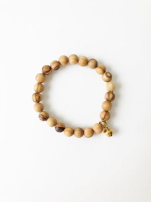 OLIVE WOOD Stack On Elastic Bracelet