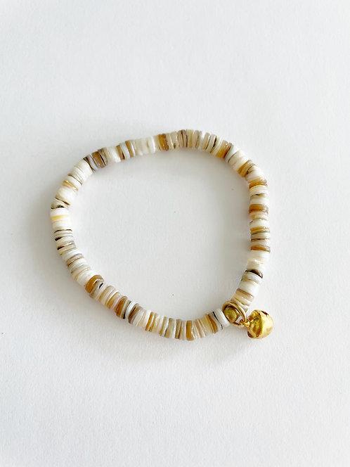 SAND Crushed Shell Stack On Elastic Bracelet