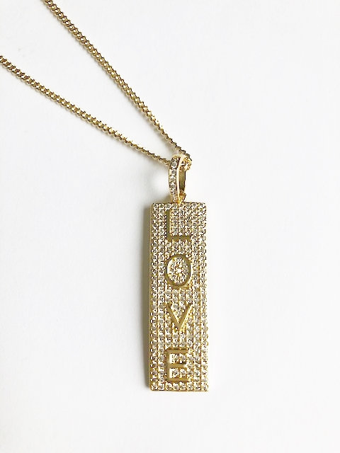 Love, Love Me Do Dog Tag Necklace