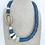 Thumbnail: Recycled Sea Glass Necklace with Ancient Shell & Pearl Accents - Marine Blue