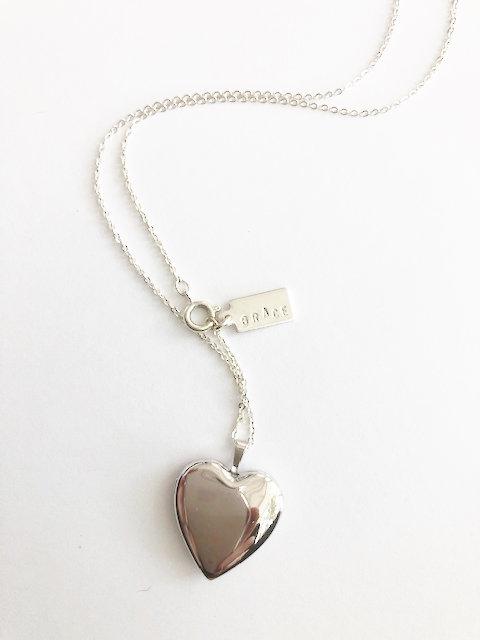 GRACE Heart Locket - SILVER