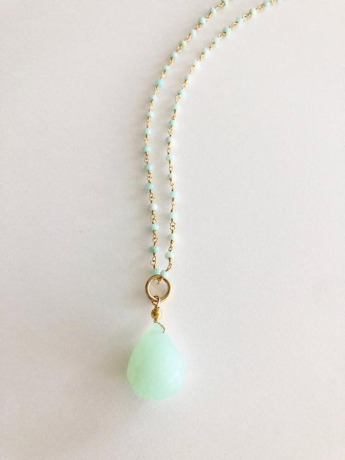 Aqua Quartz Beach Pendant