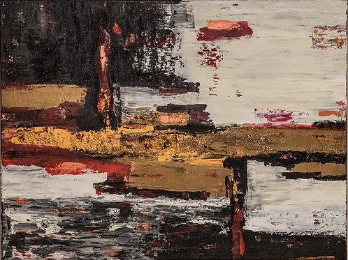 Abstract landscape I af Ghiocel Budea