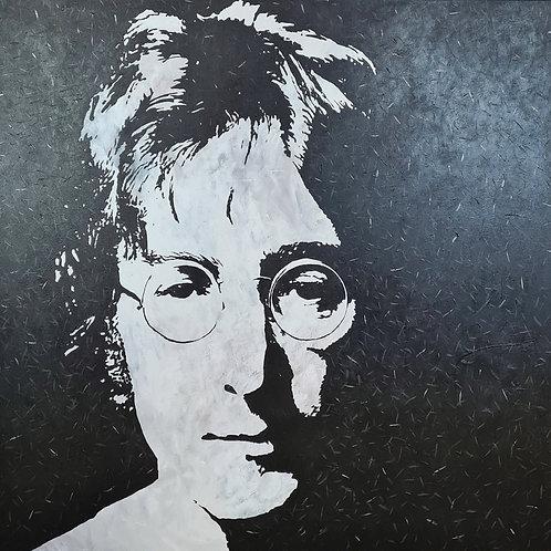 John Lennon portræt-100x110 cm.