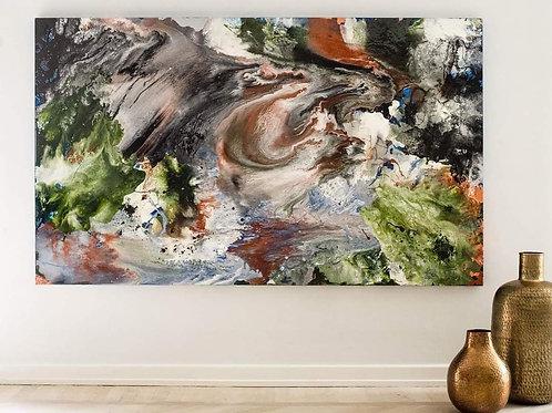 / No Title - maleri af Ina Rødtness - udstilling