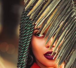 Green braided afro hair model.jpg