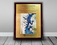 Campbell Family Reef Plaque with Backdro