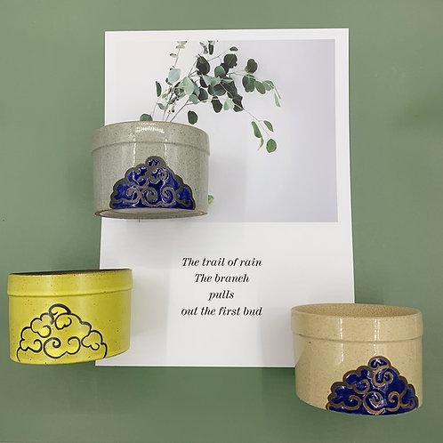 GP259 |  glazed pots | auspicious clouds pot |  | a set of 3