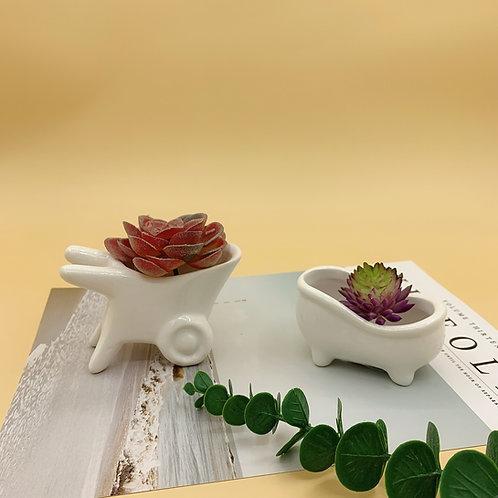 GP234| glazed pots | Nordic style| Bathtub pot | a set of 2