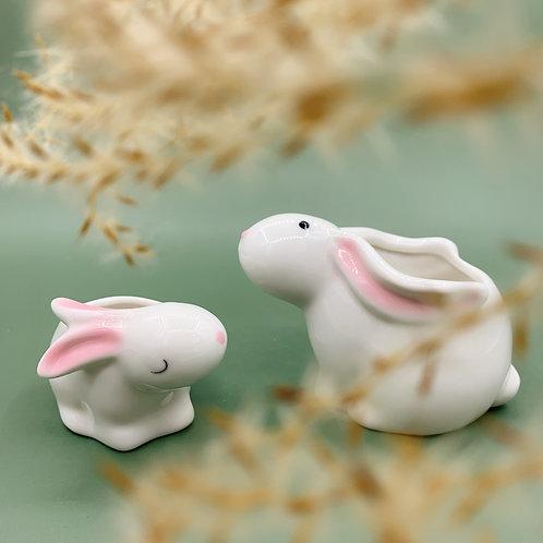 GP251| glazed pots | Nordic style| rabbit pot | a set of 2