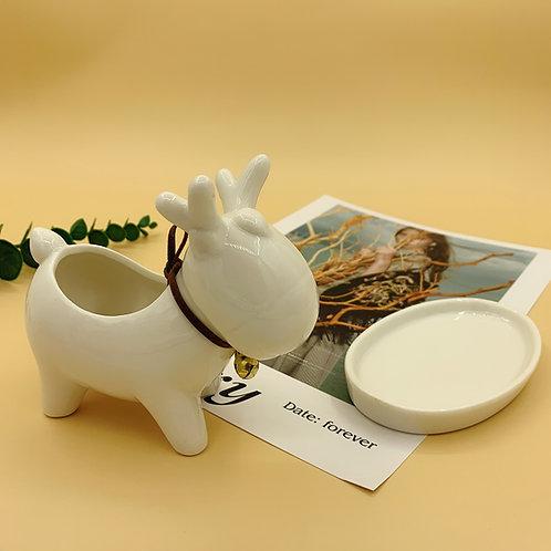 GP240| glazed pots | Nordic style| reindeer