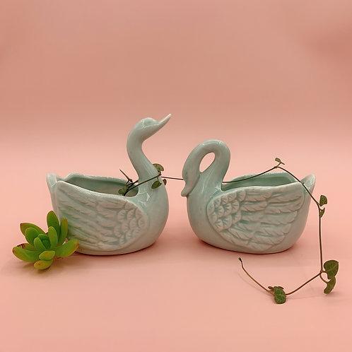 GP221 | glazed pots | Nordic style| swan