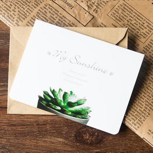 GC003 | MINIGARDEN Succulent Gift Card | WHITE SUCCULENT