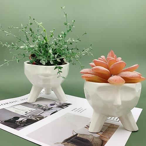 GP250| glazed pots | Nordic style| face pot | a set of 2