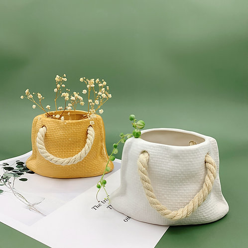 GP277   glazed pots   Bag Pot   Two Colors